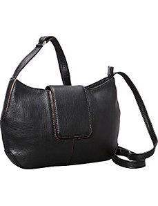 Top Zip Half Moon Shape bag by Derek Alexander