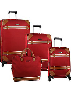 Vintage Edition Four Piece Luggage Set by Anne Klein Luggage