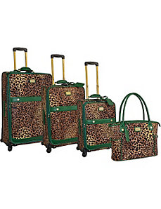 Pebble Grain Collection 4pc Luggage Set by Adrienne Vittadini