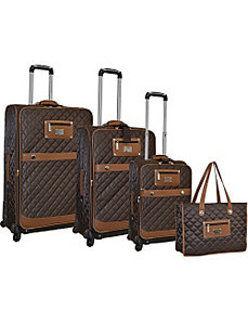 Quilted Collection Spinner 4pc Luggage Set by Adrienne Vittadini
