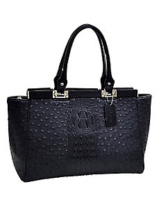 Ostrich and Croco Fusion Wide Petite Tote by Dasein