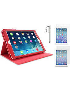 iPad Air Dual-View Folio Case - 3-in-1 Bundle by rooCASE