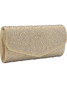 Fully Studded Flap Clutch by J. Furmani