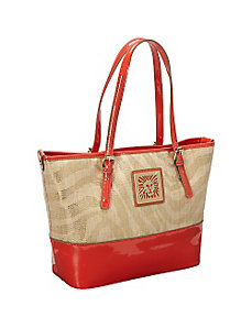 Sunshine Straw Medium Tote by Anne Klein