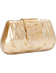 Lucite Slope Side Box Clutch by Magid