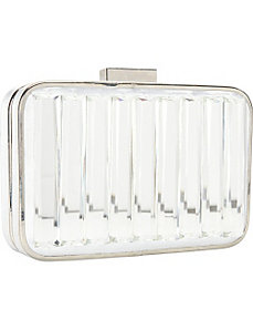Mirror Crystal Box Clutch by Magid