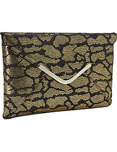Metalic Animal Print Envelope Clutch by Magid