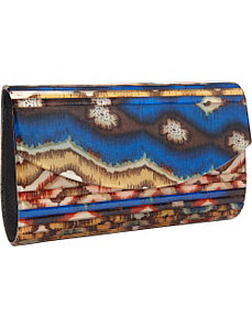 Lucite Printed Clutch by Magid