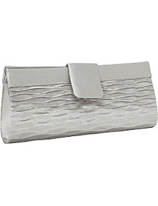 Wave Front Satin Clutch by Magid