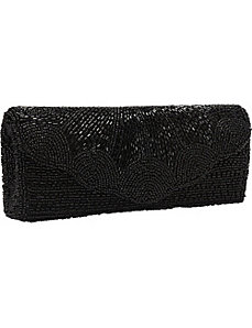 Full Beaded Scalloped Clutch by Magid