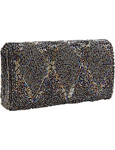 Vintage Style Beaded Diamond Clutch by Magid