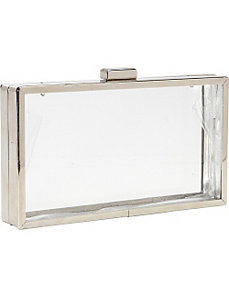 Clear Box Clutch by Magid