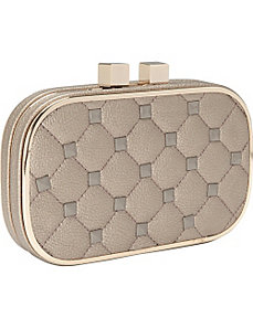 Quilted Stud Clutch by Magid