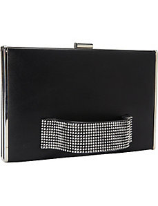 Black Front Handle Clutch by Magid