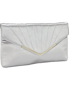 Satin Envelope Clutch by Magid