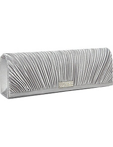 Pleated Satin Long Clutch by Magid