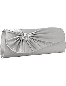 Satin Flat Bow Clutch by Magid