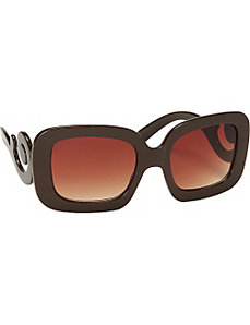 Scroll Square Fashion Sunglasses by SW Global