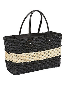 Corn Straw Box Tote by Magid