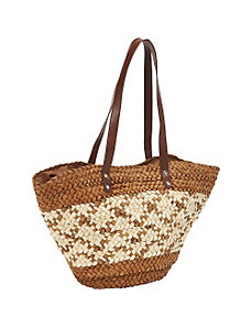 Corn Straw Bucket Tote by Magid