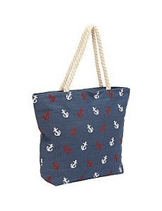 Canvas Tiny Anchor Tote by Magid