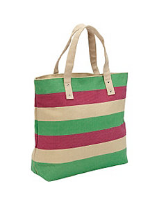 Multi Stripe Canvas Tote by Magid