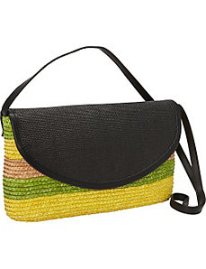 Milan Straw Tri Color Shoulder Bag by Magid
