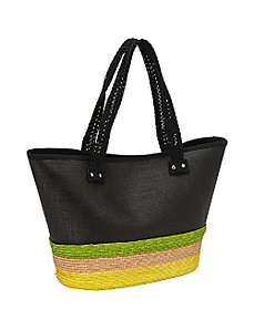 Milan Straw Tri-Color Tote by Magid