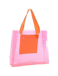 Clear Tote w/ Neoprene Pocket by Echo Design