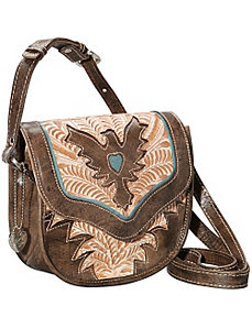 Eagle Heart Crossbody Flap Bag by American West