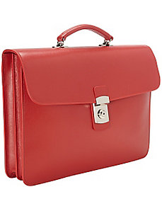 Kensington Single Gusset Briefcase by Royce Leather
