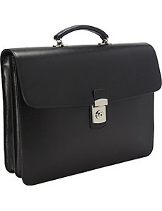 Kensington Double Gusset Briefcase by Royce Leather
