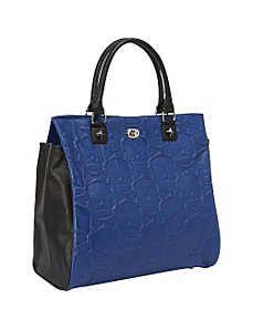 Sugar Skull Embossed Blue/Black Tote by Loungefly