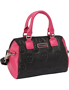 Skull Emboss Colorblock Black/Pink Bag by Loungefly