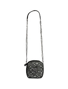 Hello Kitty Black/Grey Leopard Chain Cross Body by Loungefly