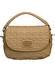Hello Kitty Taupe Embossed Crossbody by Loungefly