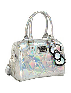Hello Kitty Silver Mini Duffle Embossed Bag by Loungefly