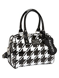 Hello Kitty  Houndstooth Emboss Mini City Bag by Loungefly