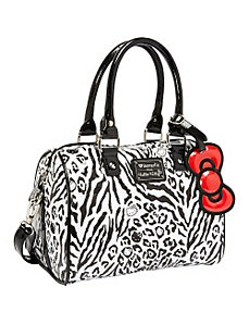 Hello Kitty Black/White Leopard Embossed Mini City by Loungefly