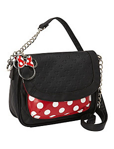 Minnie Polka Dot Crossbody Bag by Loungefly