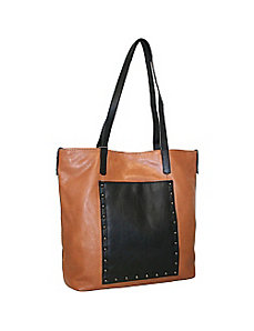 Large Studded Tote by Nino Bossi