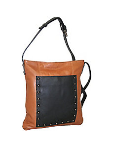 Mid Size Studded Cross Body Bag by Nino Bossi