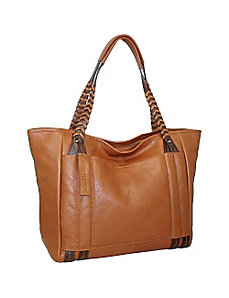 Tote with Woven Shoulder Strap by Nino Bossi