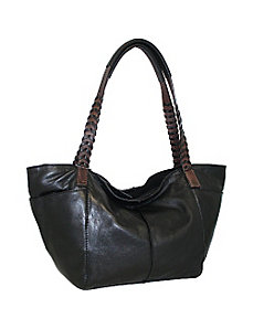 Medium Tote with Woven Strap by Nino Bossi