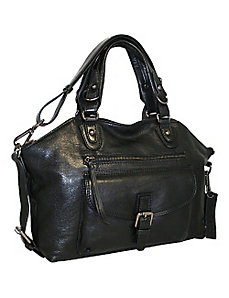 Satchel with Front Flap Pocket by Nino Bossi