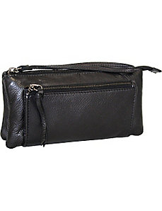 Clutch with Leather Strap by Nino Bossi