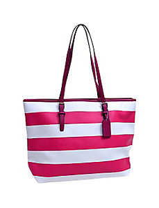 Preppy Striped Tote Bag by Dasein