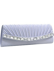Pleated Stone Jewel Evening Clutch by Dasein
