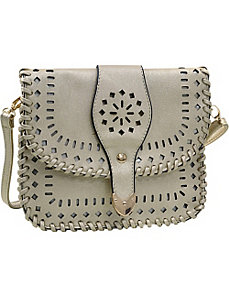 Aztec Inspired Cutout Crossbody Bag by Dasein