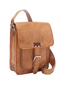 Retro One Strap Close Messenger Bag by Sharo Leather Bags